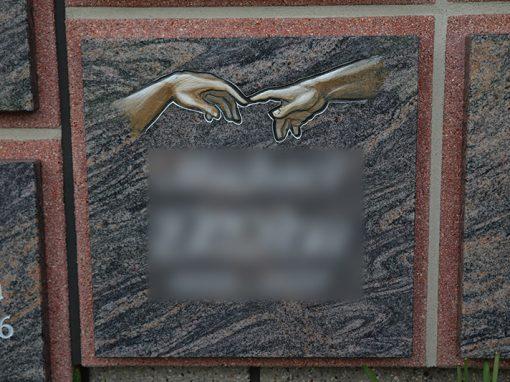 Urnenwandbeschriftung